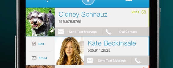 Android contacts app