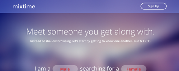 Dating website concept design