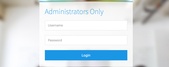 Admin Login Section